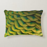 Peacock Feathers II Colorful Nature Design Accent Pillow