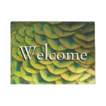 Peacock Feathers II Colorful Nature Design Doormat
