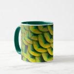 Peacock Feathers II Colorful Nature Design Mug
