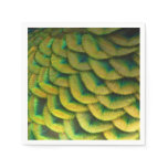 Peacock Feathers II Colorful Nature Design Paper Napkin