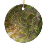 Peacock Feathers III (Female) Subtle Nature Design Ceramic Ornament