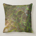 Peacock Feathers III (Female) Subtle Nature Design Throw Pillow