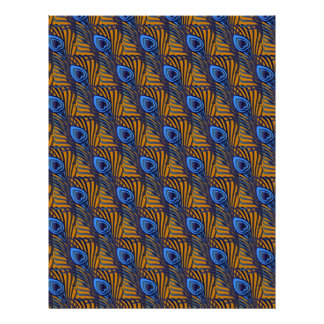 Peacock Feathers III SCRAPBOOK paper