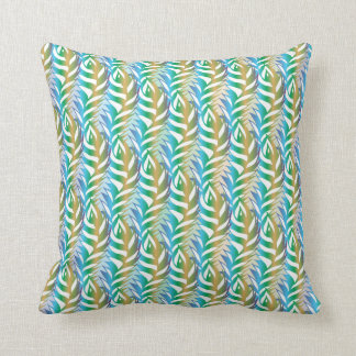 Peacock Feathers III Throw Pillow