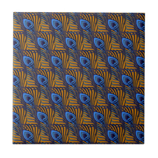 Peacock Feathers III Tile