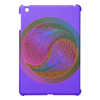 Peacock Feathers in Balance Yin Yang iPad Mini Cover