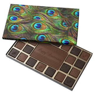 Peacock Feathers Invasion 45 Piece Box Of Chocolates
