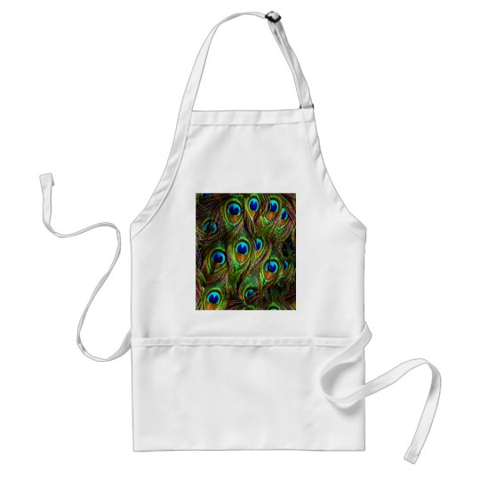 Peacock Feathers Invasion Adult Apron