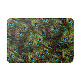Peacock Feathers Invasion Bathmat
