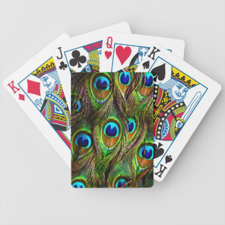 Peacock Feathers Invasion Bicycle Playing Cards