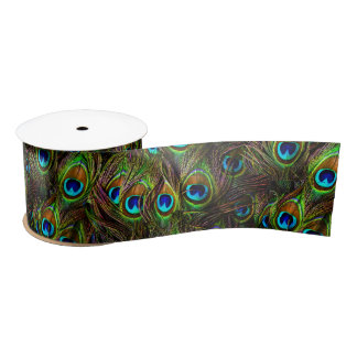 Peacock Feathers Invasion Blank Ribbon