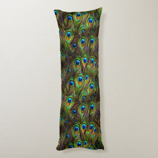 Peacock Feathers Invasion Body Pillow