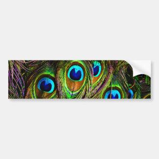 Peacock Feathers Invasion Bumper Sticker