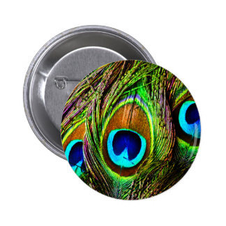 Peacock Feathers Invasion - Button