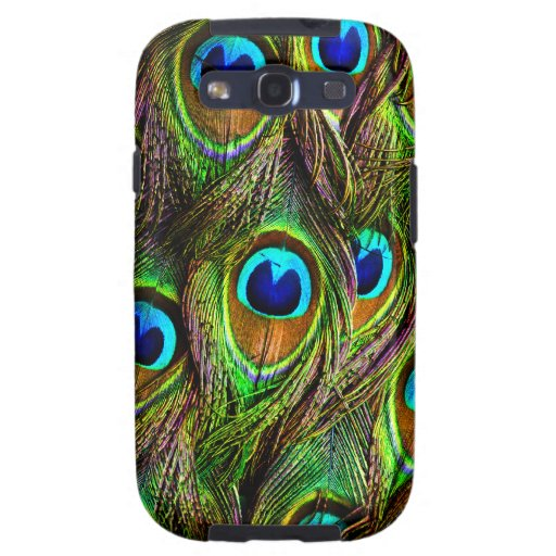Peacock Feathers Invasion Samsung Galaxy SIII Cases