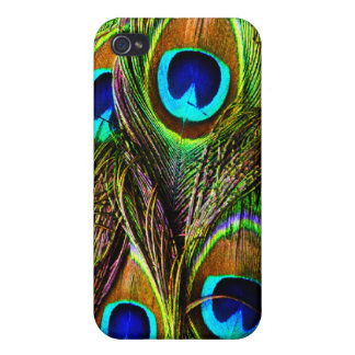 Peacock Feathers Invasion Case For iPhone 4