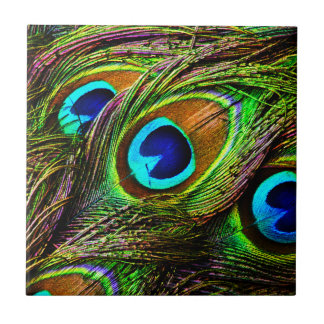 Peacock Feathers Invasion - Ceramic Tile