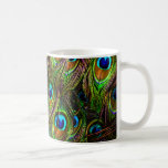 Peacock Feathers Invasion Classic White Coffee Mug