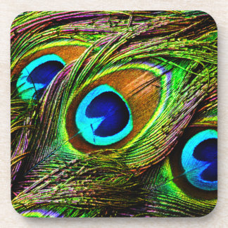 Peacock Feathers Invasion - Coasters