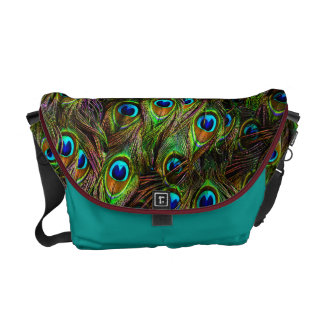 Peacock Feathers Invasion Courier Bag