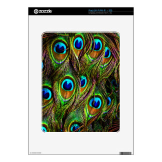 Peacock Feathers Invasion Decal For The iPad