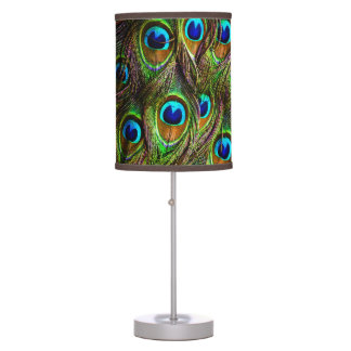 Peacock Feathers Invasion Desk Lamps