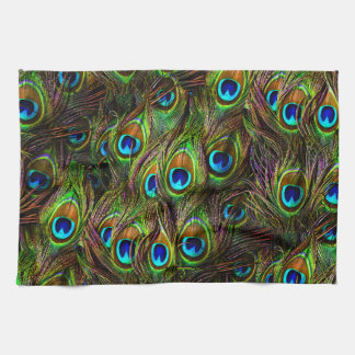 Peacock Feathers Invasion Hand Towel