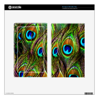 Peacock Feathers Invasion - Kindle Fire Decal