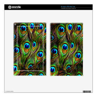 Peacock Feathers Invasion Kindle Fire Decal