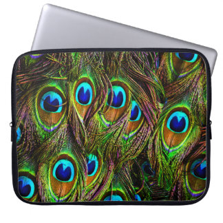 Peacock Feathers Invasion - Laptop Computer Sleeves