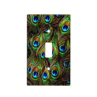 Peacock Feathers Invasion Light Switch Plates