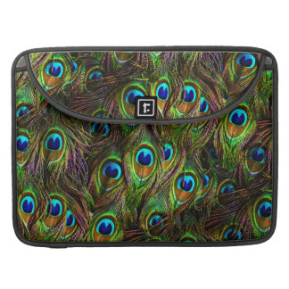 Peacock Feathers Invasion Sleeves For MacBook Pro