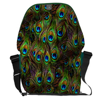 Peacock Feathers Invasion Messenger Bag