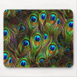 Peacock Feathers Invasion Mouse Pad