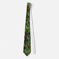 Peacock Feathers Invasion Neck Tie at Zazzle