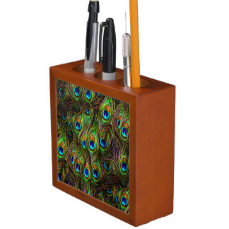 Peacock Feathers Invasion Pencil/Pen Holder