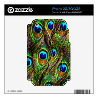Peacock Feathers Invasion Skin For iPhone 2G
