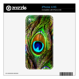 Peacock Feathers Invasion - Decal For iPhone 4S