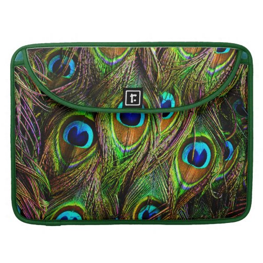 Peacock Feathers Invasion - Sleeve For MacBooks