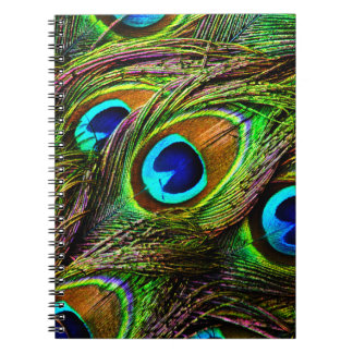 Peacock Feathers Invasion - Spiral Notebook