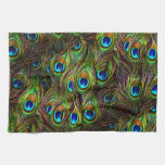 Peacock Feathers Invasion Towel
