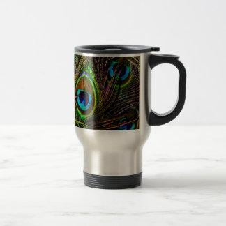 Peacock Feathers Invasion - Travel Mug