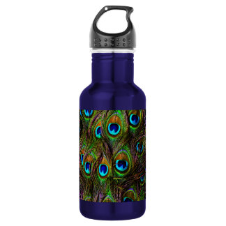 Peacock Feathers Invasion - Water Bottle