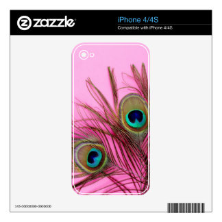 Peacock Feathers iPhone 4/4S Zazzle Skin Decals For iPhone 4S