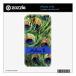 Peacock Feathers iPhone 4 Decal