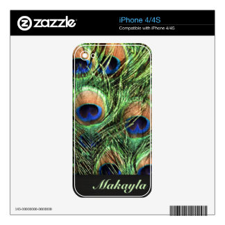 Peacock Feathers iPhone 4S Skin