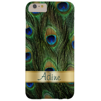 Peacock Feathers iPhone 6 Plus Monogram Case Barely There iPhone 6 Plus Case