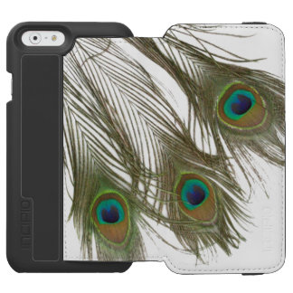 PEACOCK FEATHERS iPHONE 6 WALLET CASE