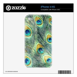 PEACOCK FEATHERS iPhone Skin iPhone 4 Skin
