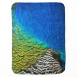 Peacock Feathers IV Colorful Nature Design Baby Blankets